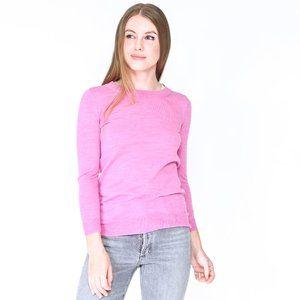 J. CREW Flamingo Pink Margot Merino Wool Sweater